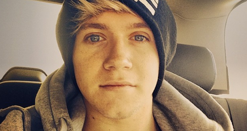 Niall Horan on the plane