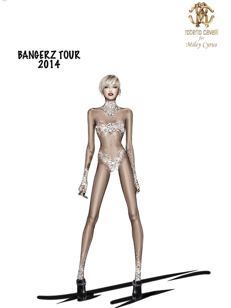 Miley Cyrus's Roberto Cavalli Tour Costume Designs