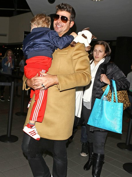 Robin Thicke and Son