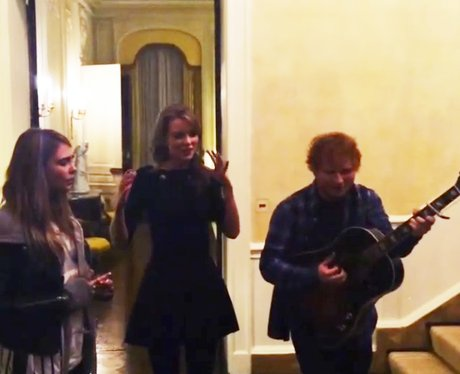 Taylor Swift, Ed Sheeran and Cara Delevingne