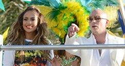 Jennifer Lopez films the new World Cup pop video ""