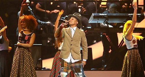 Pharrell BRIT Awards 2014 Performances