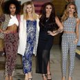 Little Mix pose outside studios