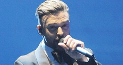 Justin Timberlake perfomrs on UK tour