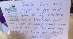 Beyonce write a note to griveing family