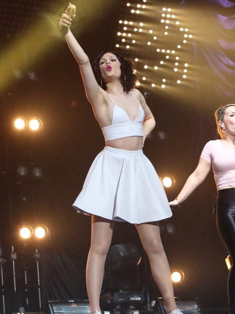 Jessie J live on stage in Madrid