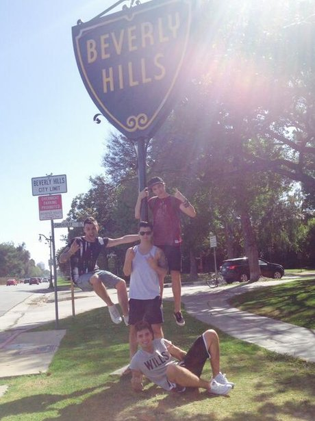 Union J in Beverley Hills