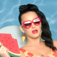 Katy Perry eating watermelon