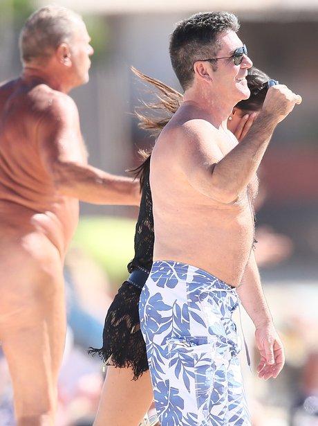 Simon Cowell on a nudist beach