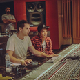 Mark Ronson and Bruno Mars in the studio