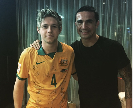 Niall Horan and Tim Cahill