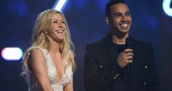 Ellie Goulding and Lewis Hamilton BRIT Awards 2015