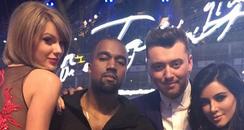 Kanye West and Kim Kardashian BRIT Awards 2015