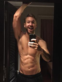 Calvin Harris topless selfie