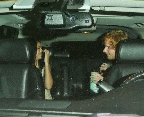 Selena Gomez and Ed Sheeran