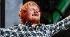 Ed Sheeran performs at Wembley