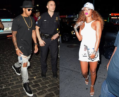 Rihanna and Lewis Hamilton out and about, New York