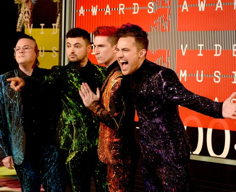 Walk The Moon arrive at the 2015 MTV Video Music A