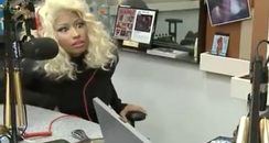 Nicki Minaj looking horrified