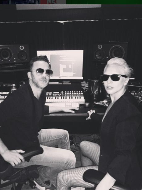 Lady Gaga In The Studio Instagram