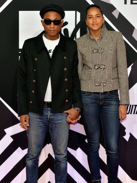 Pharrel Williams and Helen Lasichanh MTV EMA's 20