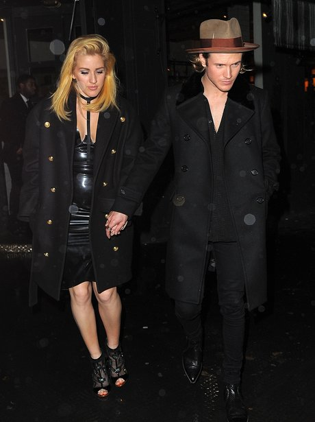 Ellie Goulding Rubber Dress Dougie Poynter