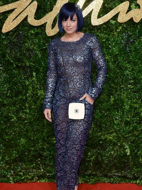 Lily Allen British Fashion Awards 2015