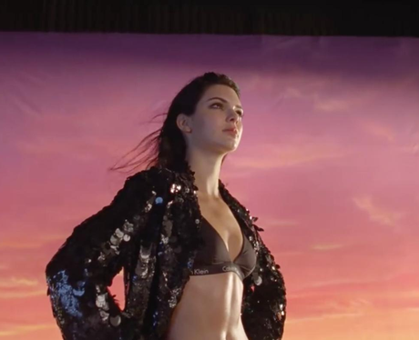 Kendall Jenner wows in BTS video for new Calvin Kl