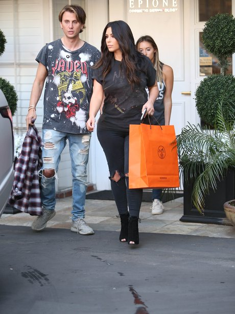 Kim Kardashian and Jonathan Cheban shopping