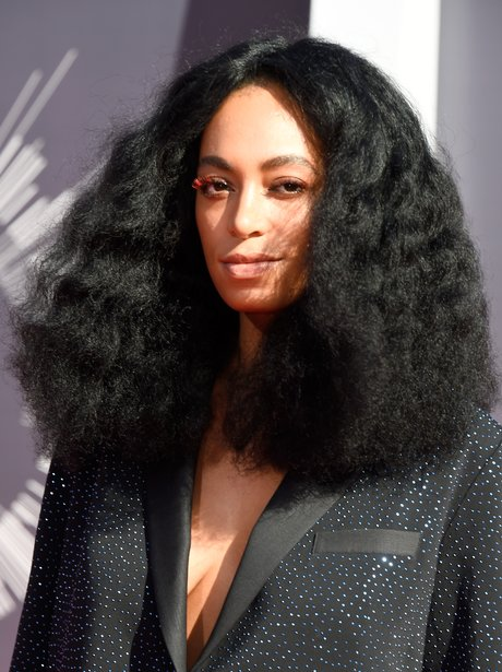 Solange Knowles at MTV Music Awards in 2014 with b