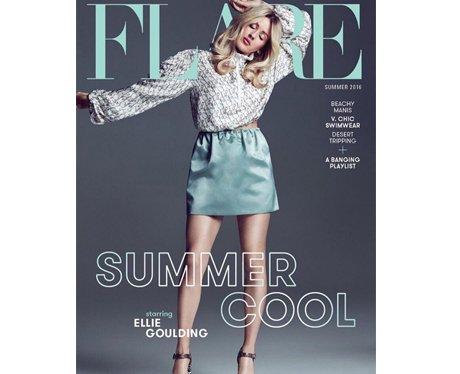Ellie Goulding on Flare magazine