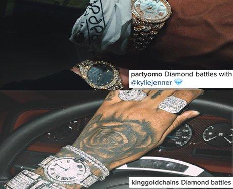 Kylie Jenner and Tyga in 'diamonds battle' war