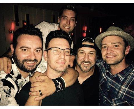 N.Sync reunite for J.C's 40th birthday