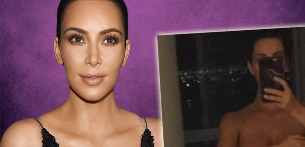 Kim Kardashian goes NAKED in her most revealing selfie