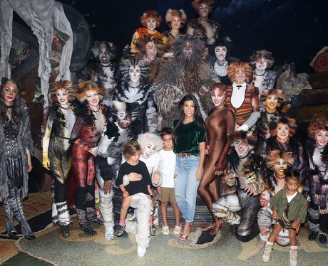 Kourtney Kardashian takes the kids to see the cast