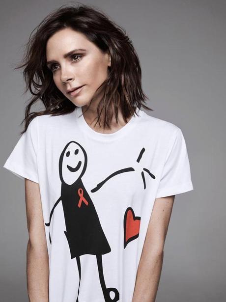 Victoria Beckham poses for UN Aids