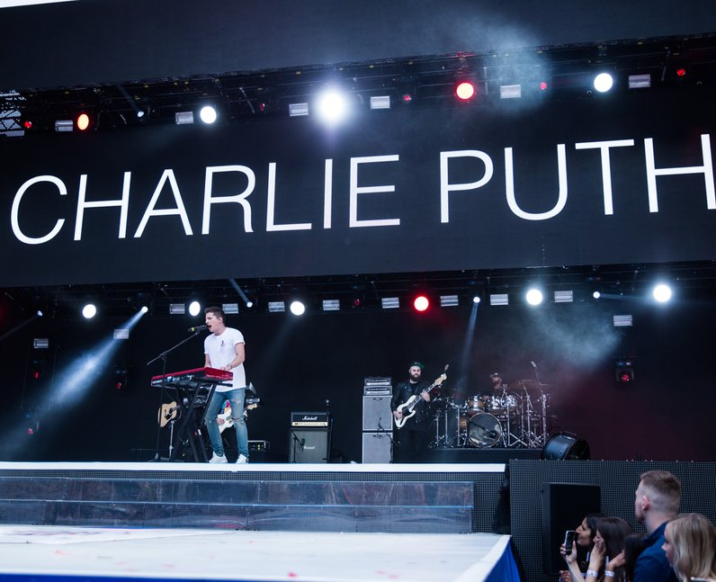 Charlie Puth at the Summertime Ball 2017