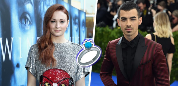 sophie turner just announced her engagement to joe jonas with an adorable insta post capital. Black Bedroom Furniture Sets. Home Design Ideas